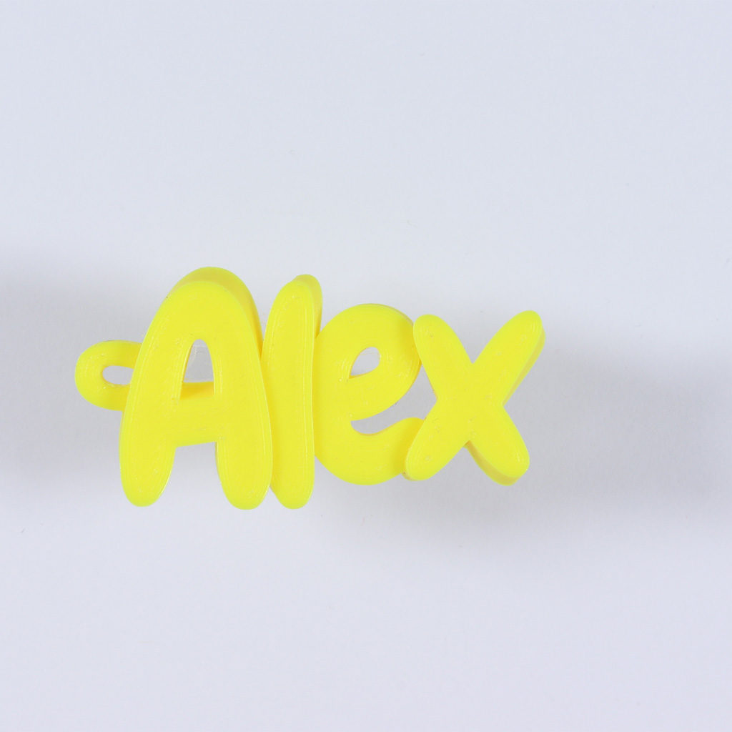 3D printed name keychain - Alex
