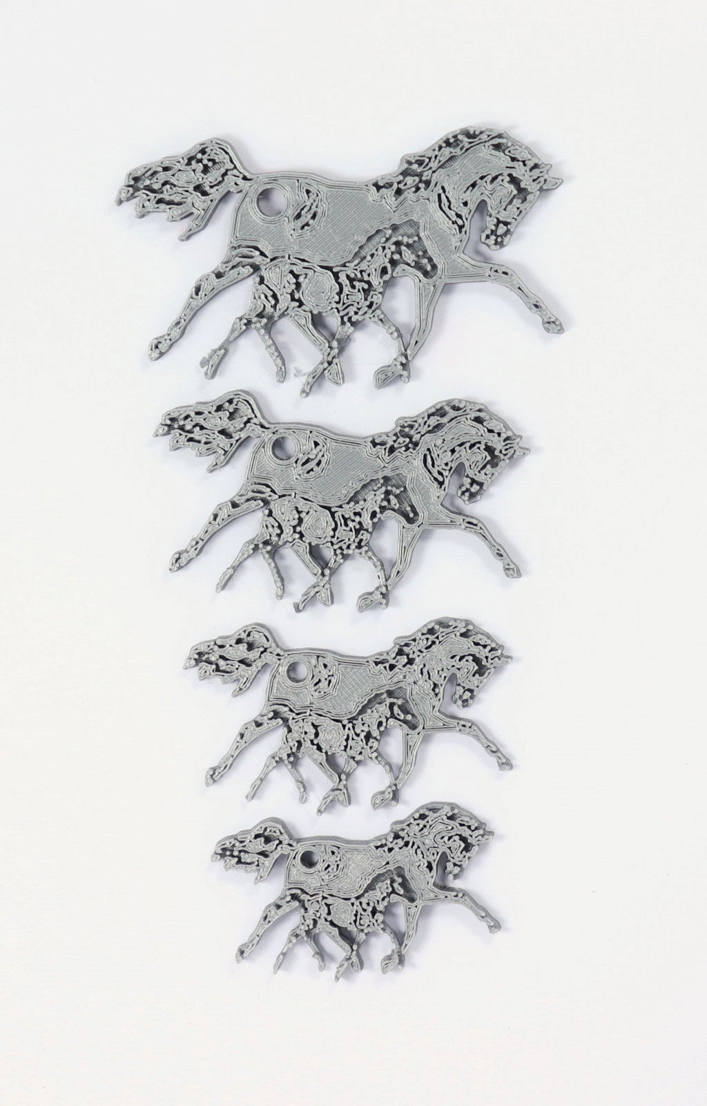 mother and foal keyring sizes