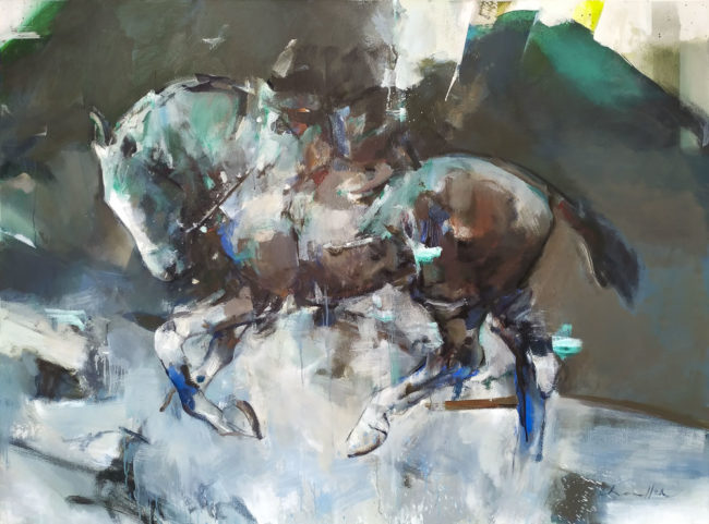 Pascale Chandler's Equestrian Jade painting