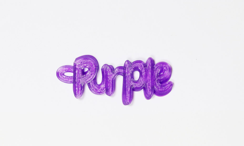 transparent purple name keyring